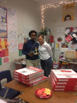 December 2014 Student of the Month Carnisha Scott from Clyde Miller Career Academy