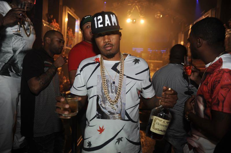 "Nas parties at LIV with an entourage that included rapper Noreaga, to celebrate the 21st anniversary of his album ""Illmatic""."