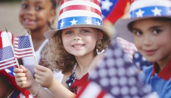 Children celebrating Fourth of July