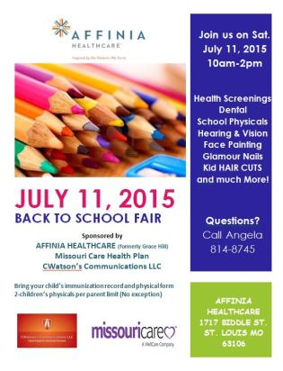 Affinia Healthcare Back to School