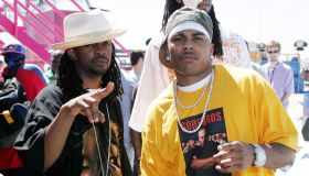 Nelly and Murphy Lee Perform at MTV's 'Summer on the Run' Beach House 2004