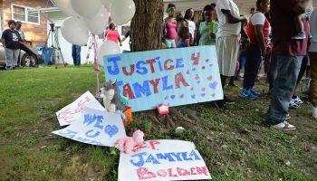 Vigil Held For Nine-Year Old Jamyla Bolden Shot By Stray Bullet While Doing Homework