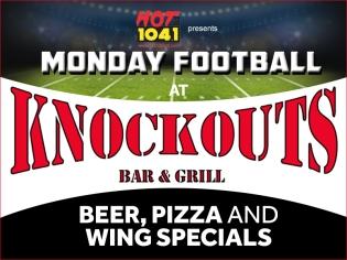 Hot 104.1 Monday Night Football at Knockouts