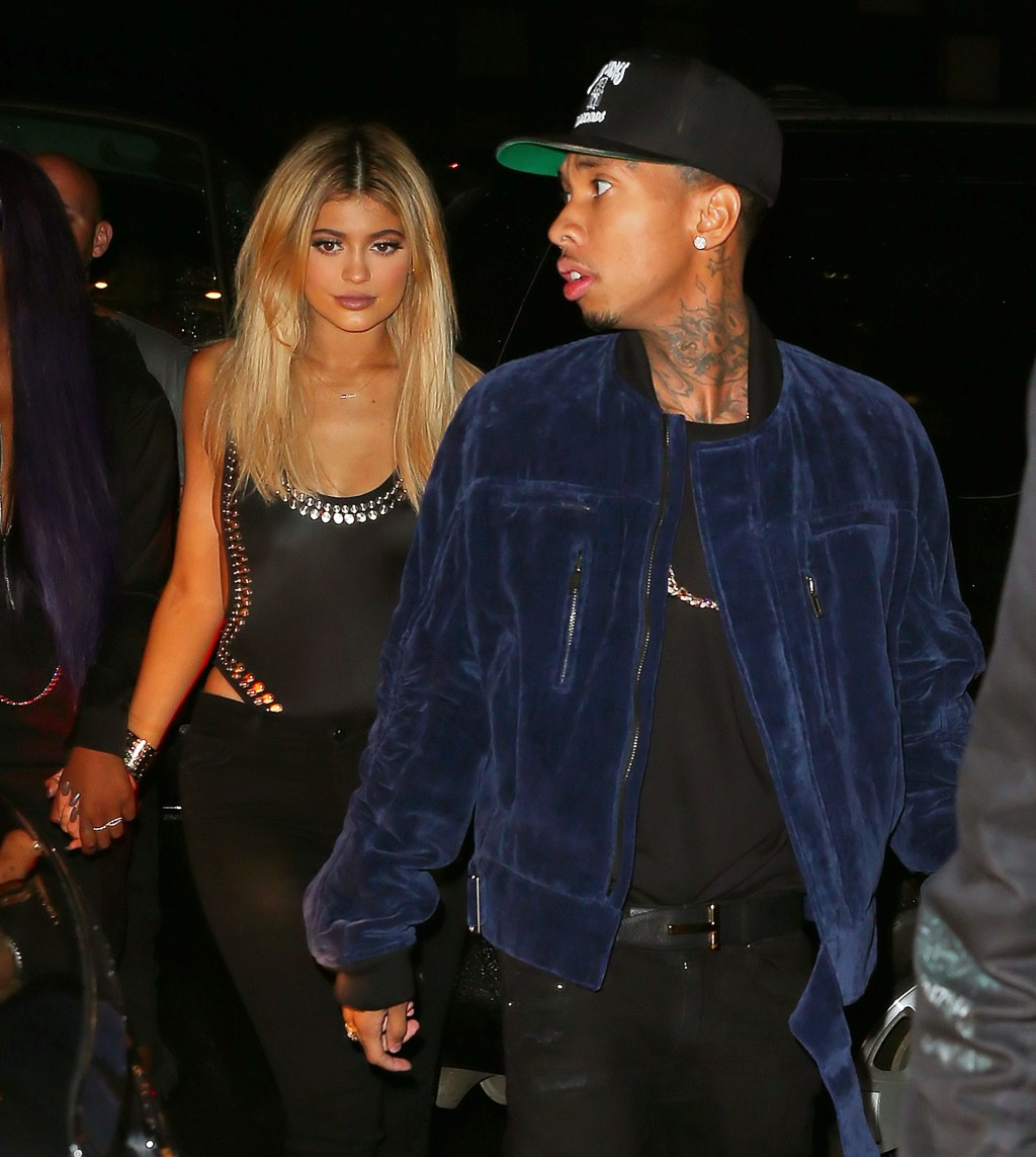 Kylie Jenner and Tyga go to Game nightclub after attending Alexander Wang in NYC