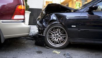 Two damage cars after accident
