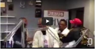 Fight at gospel station