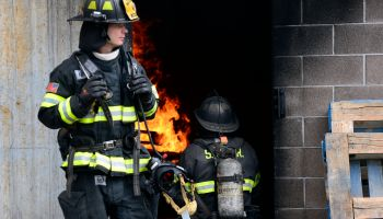 Douglas County School District student train with Firefighter in Parker.