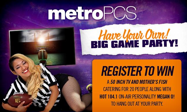 Metro PCS Big Game Party Sweepstakes 2017