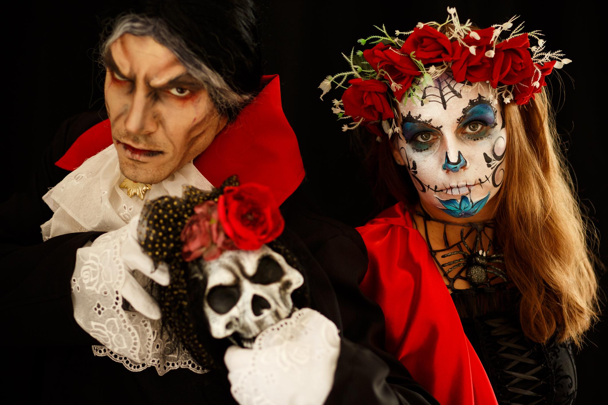 Count Dracula with Sugar Skull