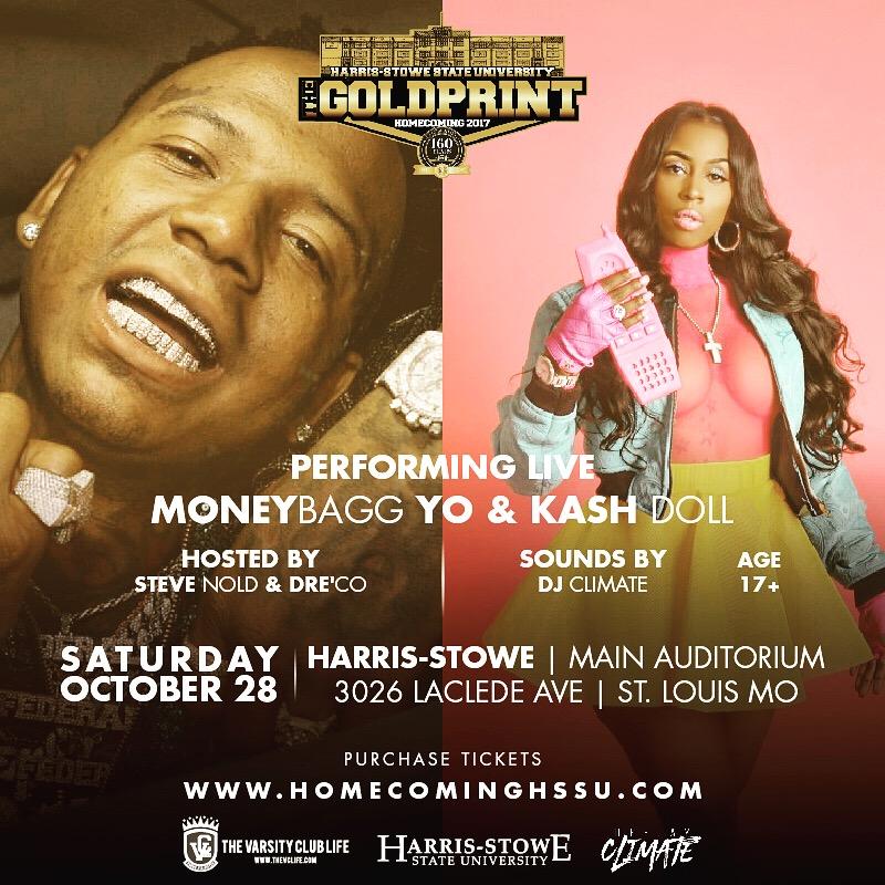 Moneybagg Yo And Kash Doll At Harris Stowe Homecoming Hot 104 1