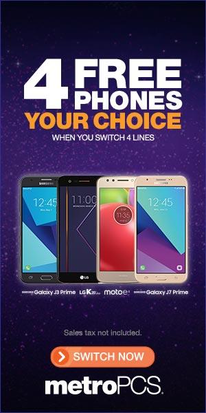 MetroPCS 4 Free Phones