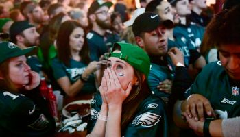 Philadelphia Eagles Fans Celebrate Win In Super Bowl LII Over New England Patriots