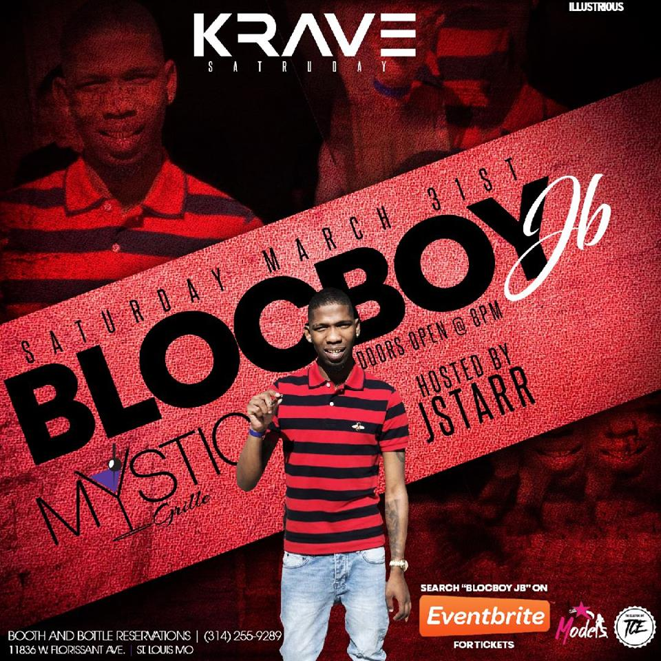 BlocBoy JB will be at Mystic Grille Saturday March 31st. Doors will open at 9pm. 21 and up event hosted by JSTARR