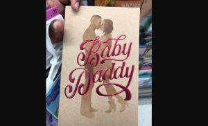 Baby daddy father's day card