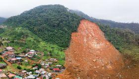Sierra Leone Mudslide Panoramic Drone Aerial Photo