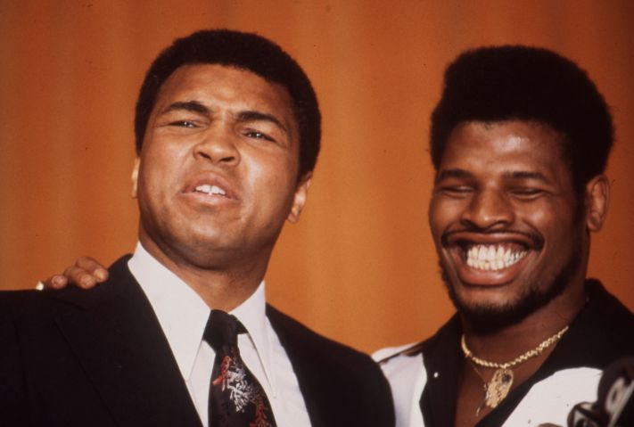 Mohammad Ali, Leon Spinks At Press Conference