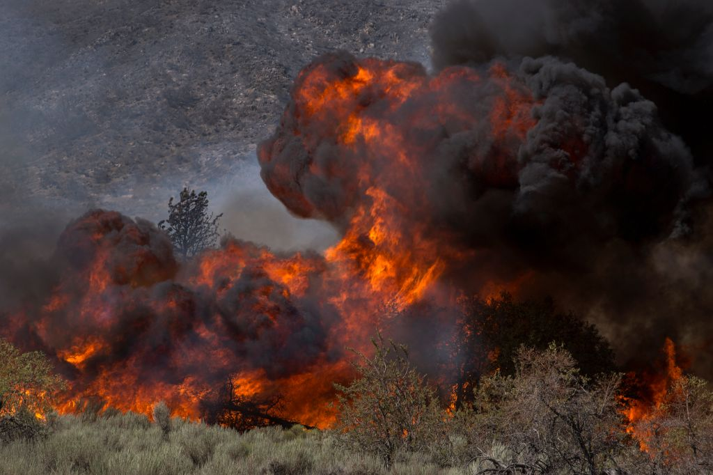 Blue Cut Fire Rages Through 30,000 Acres In Southern California