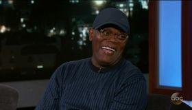 Samuel L. Jackson during an appearance on ABC's Jimmy Kimmel Live!'