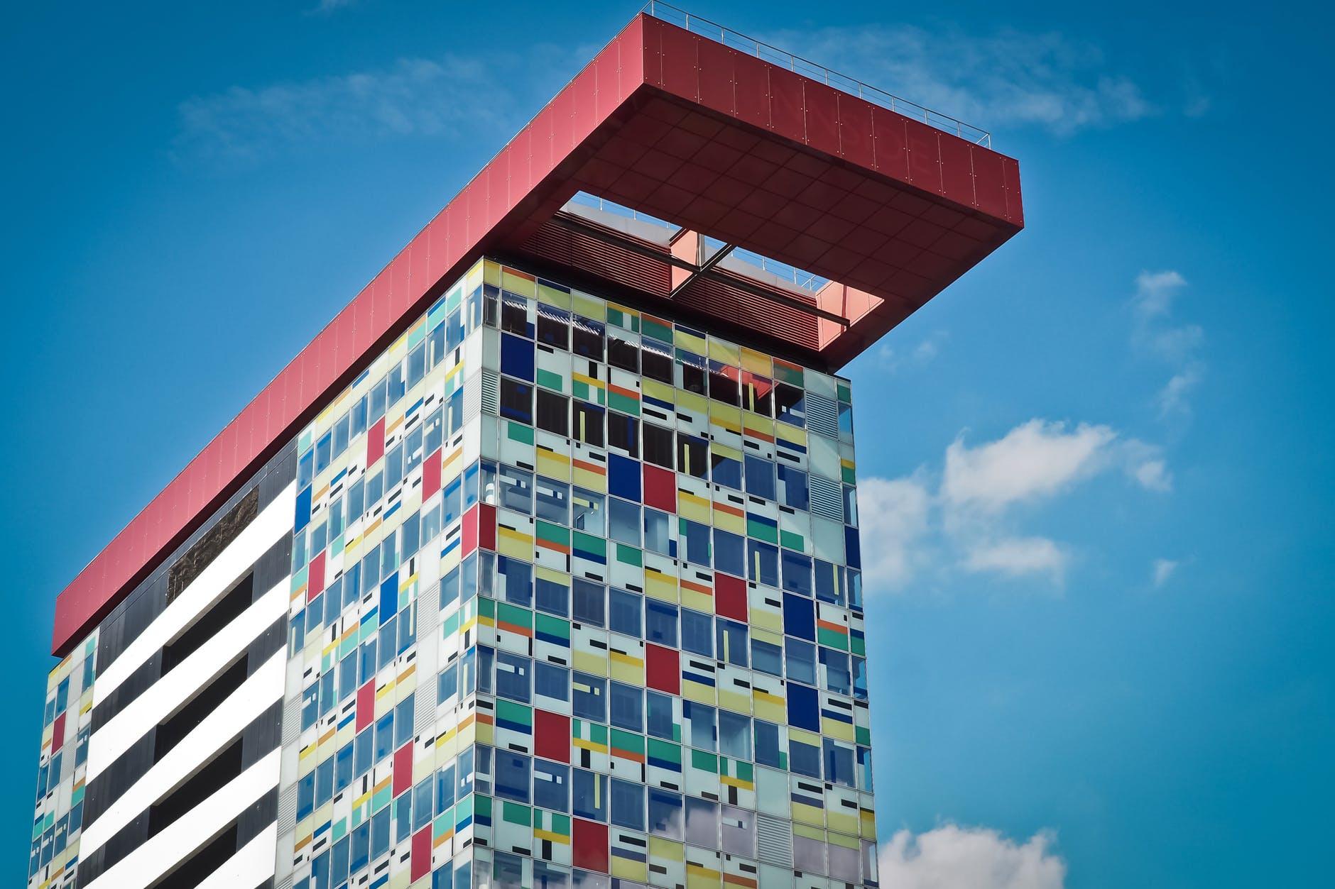 architecture art blue sky building