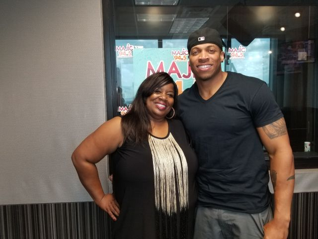 Dante Wesley and Cindi B. at Majic 94.5