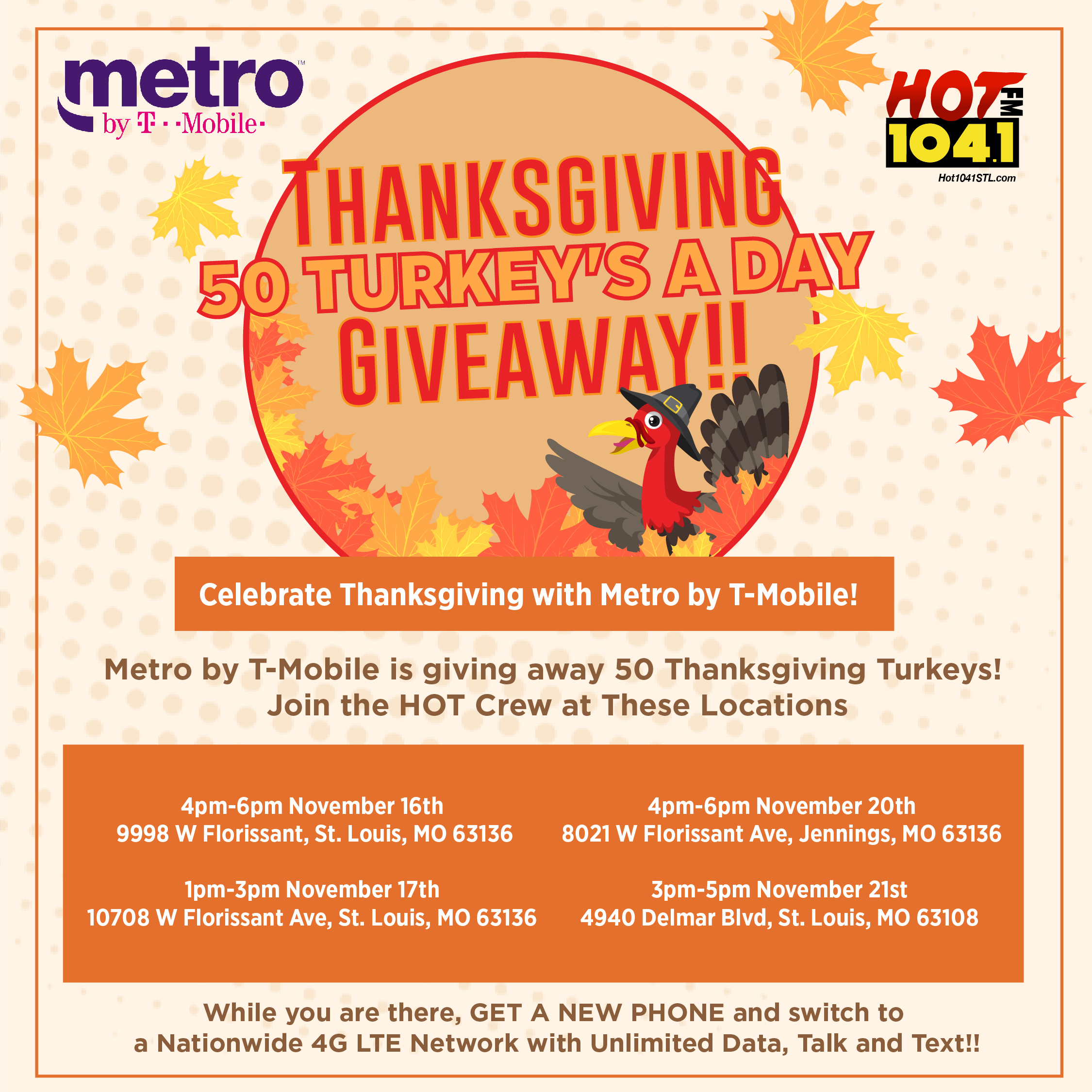 Metro by T-Mobile Turkey Giveaway