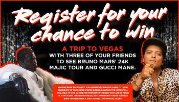The Bruno Mars and Gucci Mane Vegas Flyaway Sweepstakes