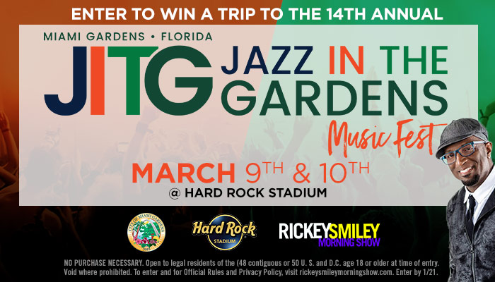 2019 Jazz in the Gardens Sweepstakes Rules