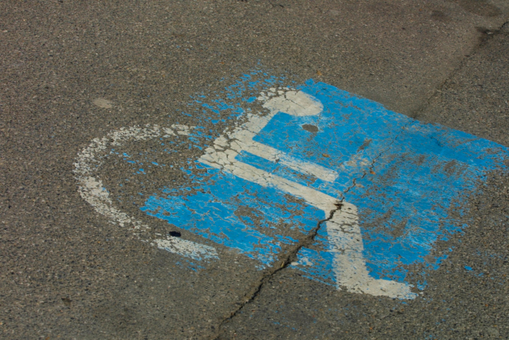 Handicapped Parking Spot Stock Image