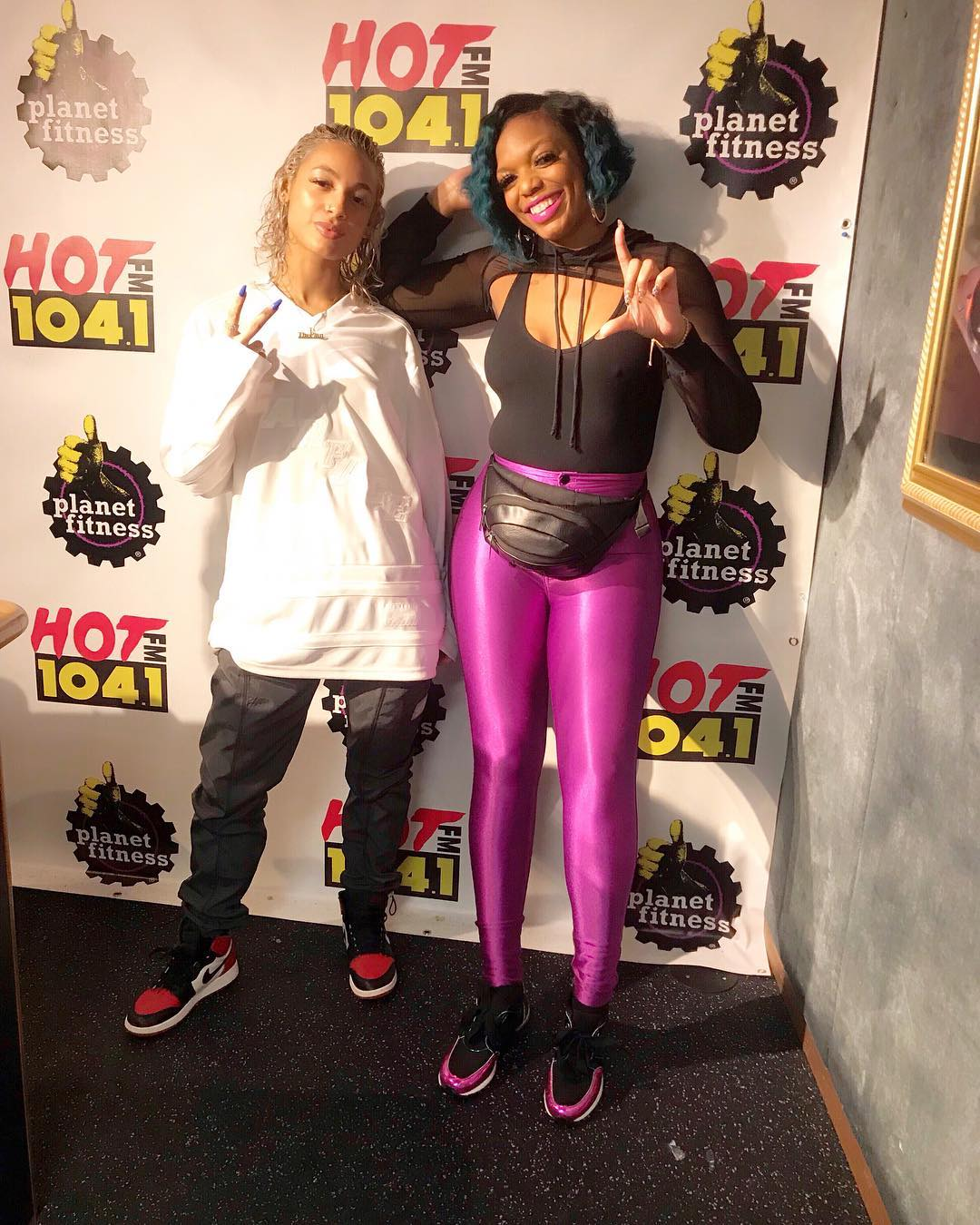 DaniLeigh and DJ Shay Money at Hot 104.1
