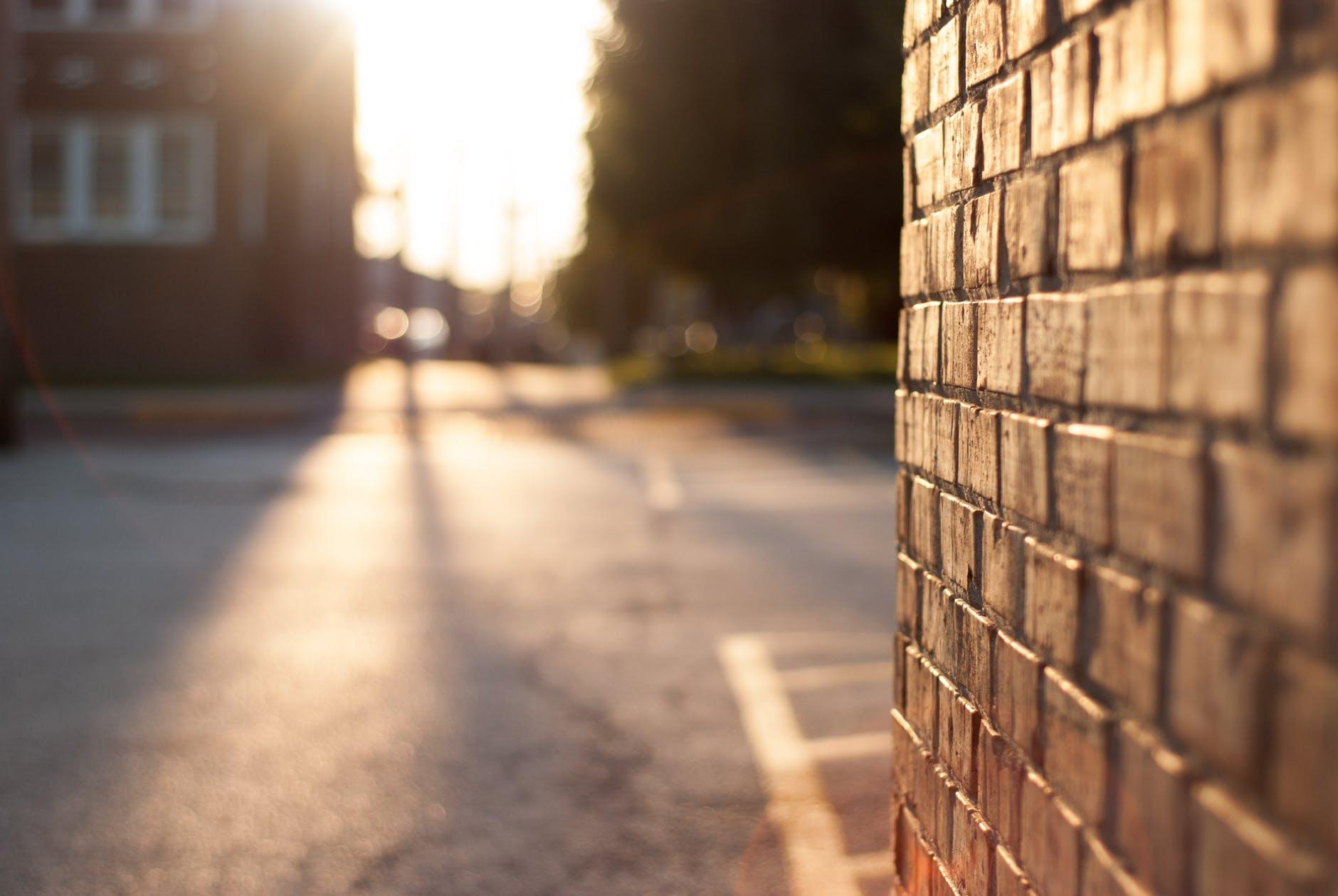 brown concrete bricks wall