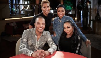 T.I. and Tiny visit Red Table Talk with Jada Pinkett-Smith and Adrienne Banfield-Norris