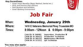 Coca Cola Job Fair