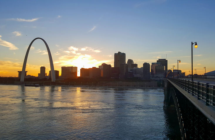 St. Louis across the Mississippi River