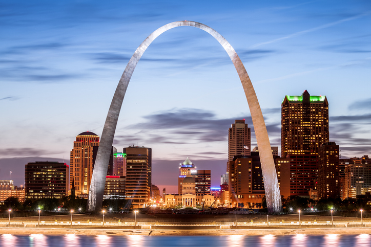 The Gateway Arch, St Louis, Missouri, America