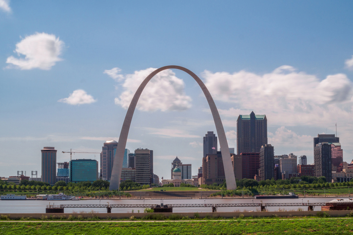 The Gateway Arch and St. Louis Skyline, Missouri